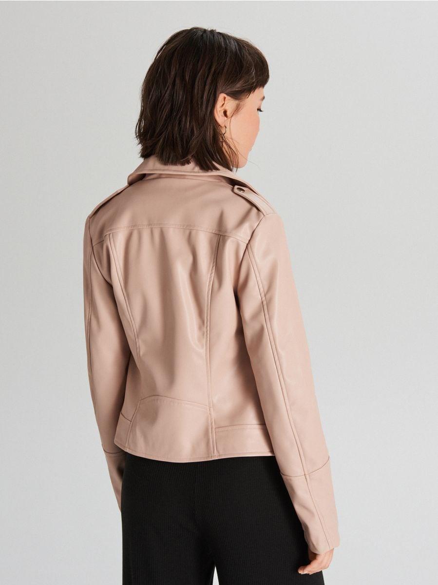 Байкерская куртка - бежевый - WB855-08X - Cropp - 5