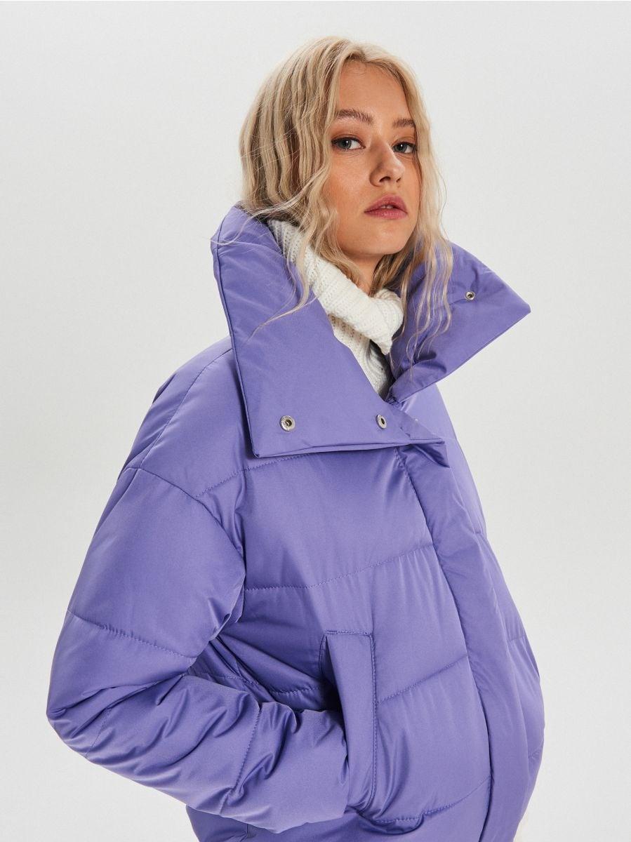 Объемная куртка - фиолетовый - WB866-44X - Cropp - 1