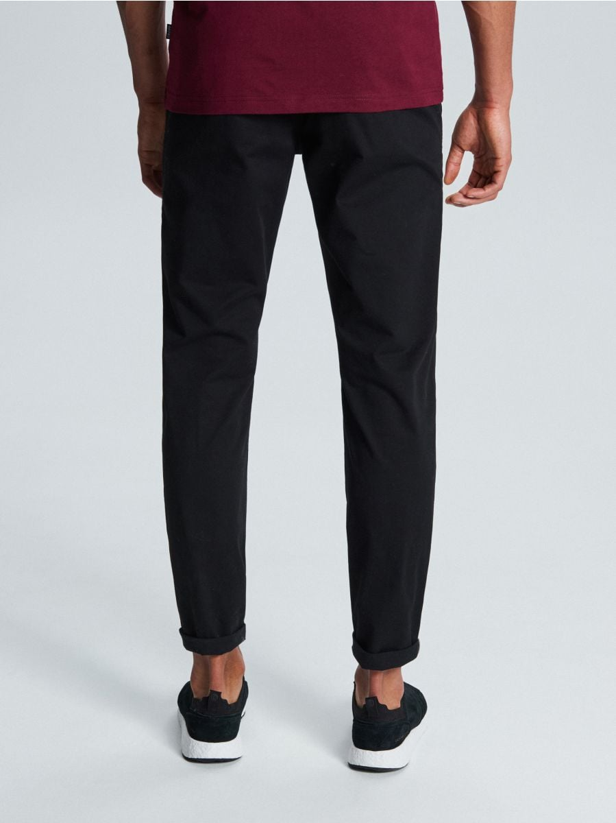 Брюки slim fit basic - черный - WD108-99X - Cropp - 4