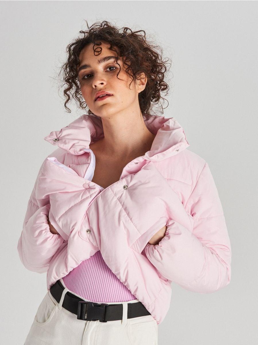 Стеганая куртка с воротником - розовый - WG280-03X - Cropp - 3