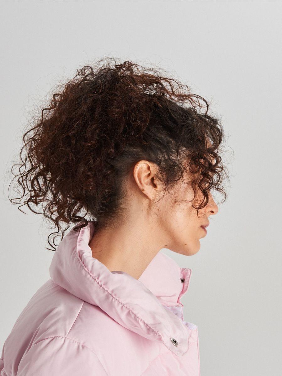 Стеганая куртка с воротником - розовый - WG280-03X - Cropp - 5
