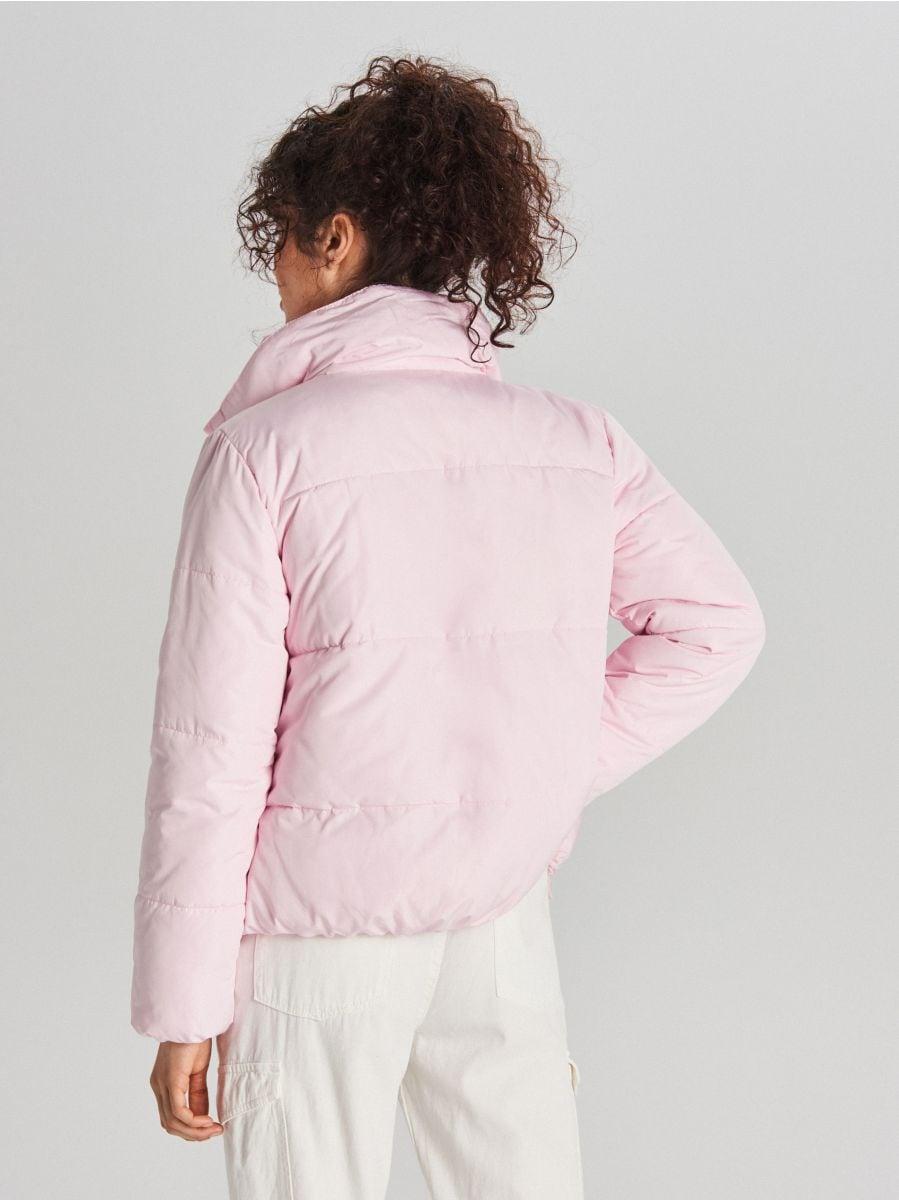 Стеганая куртка с воротником - розовый - WG280-03X - Cropp - 7