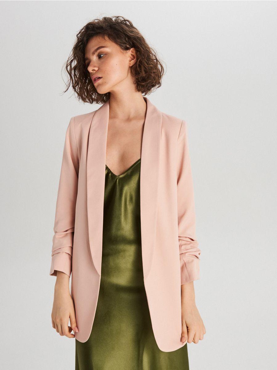 Удлиненный пиджак - розовый - WG319-03X - Cropp - 1