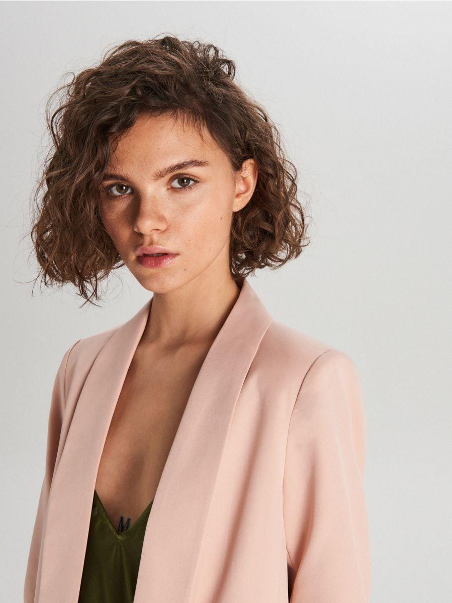 Удлиненный пиджак - розовый - WG319-03X - Cropp - 3