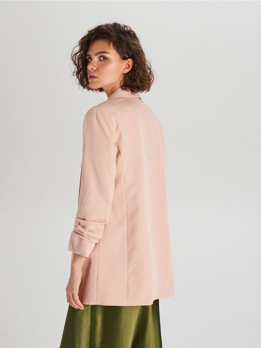 Удлиненный пиджак - розовый - WG319-03X - Cropp - 5