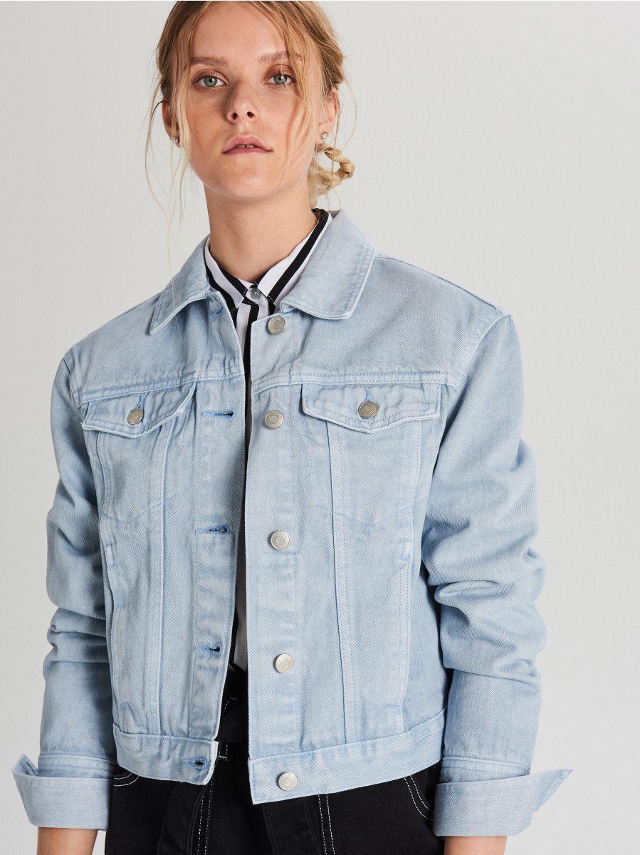 Джинсовая куртка - голубой - WG340-05J - Cropp - 1