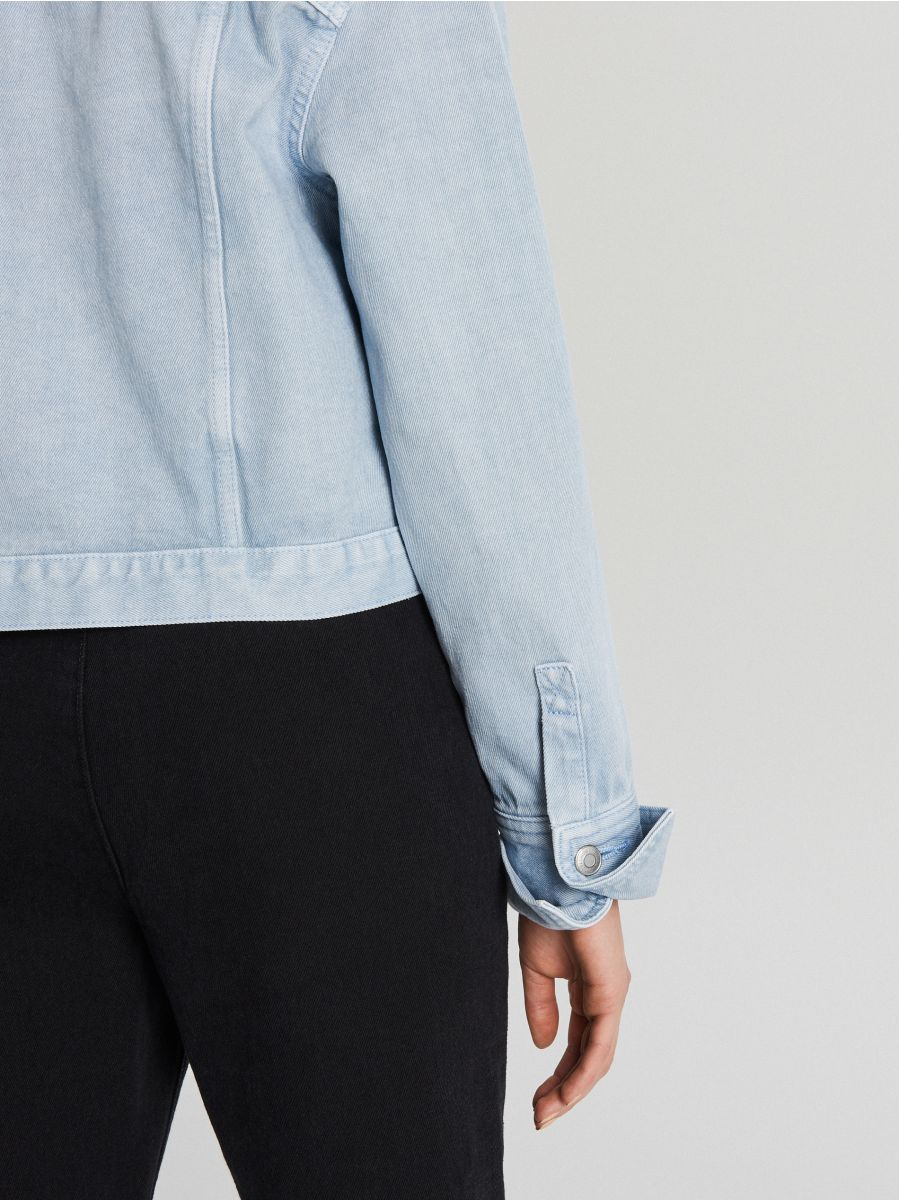 Джинсовая куртка - голубой - WG340-05J - Cropp - 5