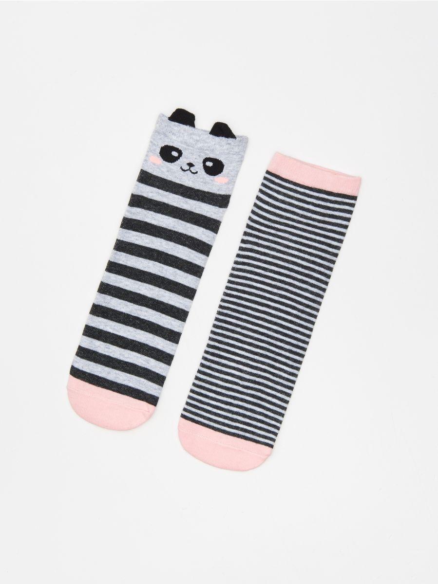 Носки, 2 пары в упаковке - светло-серый - WP287-09M - Cropp - 1