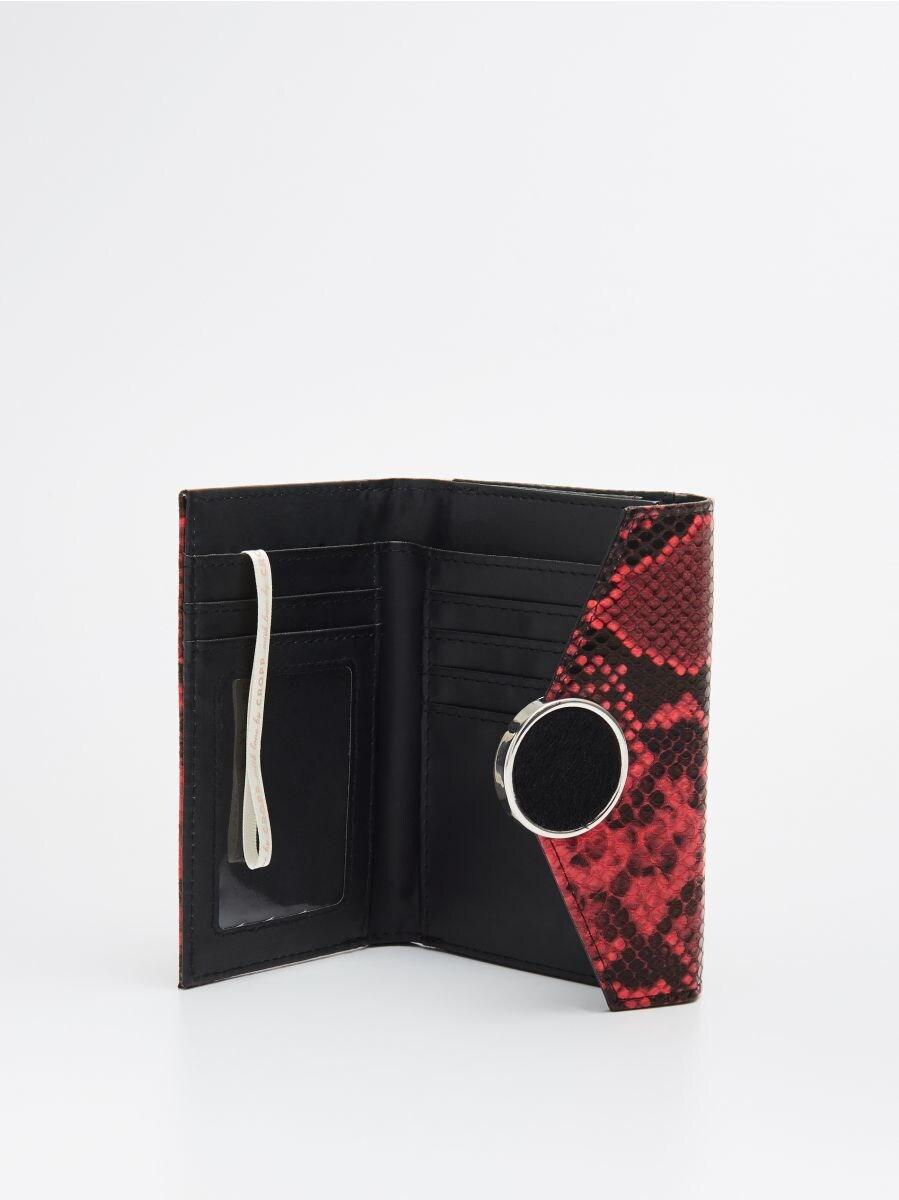 Кошелек с декоративной застежкой - красный - WR020-33X - Cropp - 2