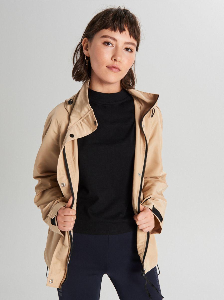 Куртка с капюшоном - бежевый - WS150-08X - Cropp - 1