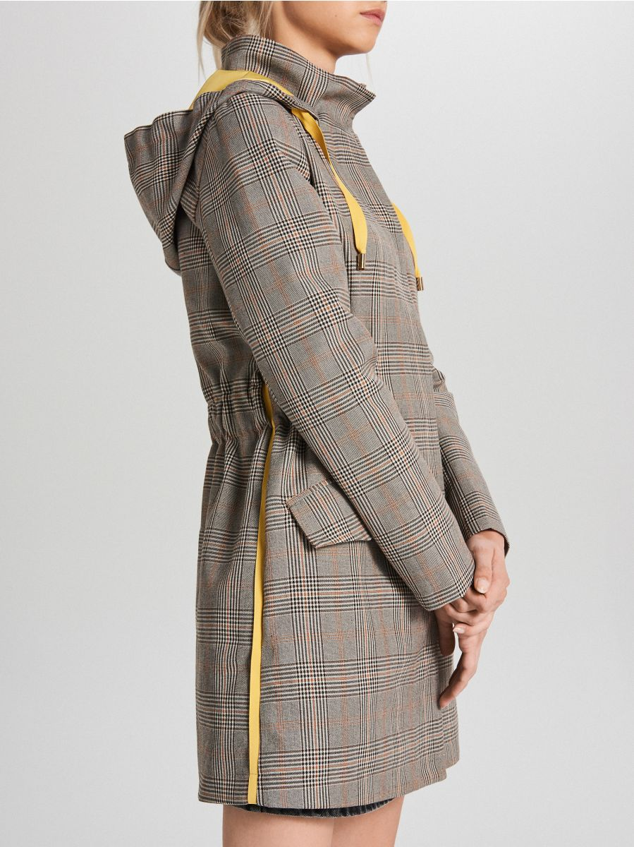 Пальто в клетку - бежевый - WS165-80X - Cropp - 4
