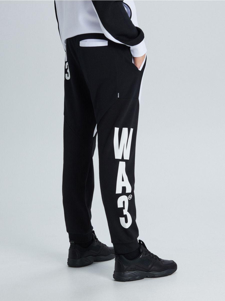Трикотажные джоггеры с принтом - белый - WW362-00X - Cropp - 4