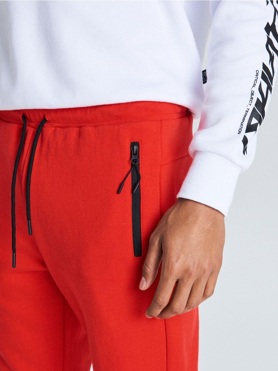 Утепленные джинсовые брюки - красный - WW364-33X - Cropp - 3