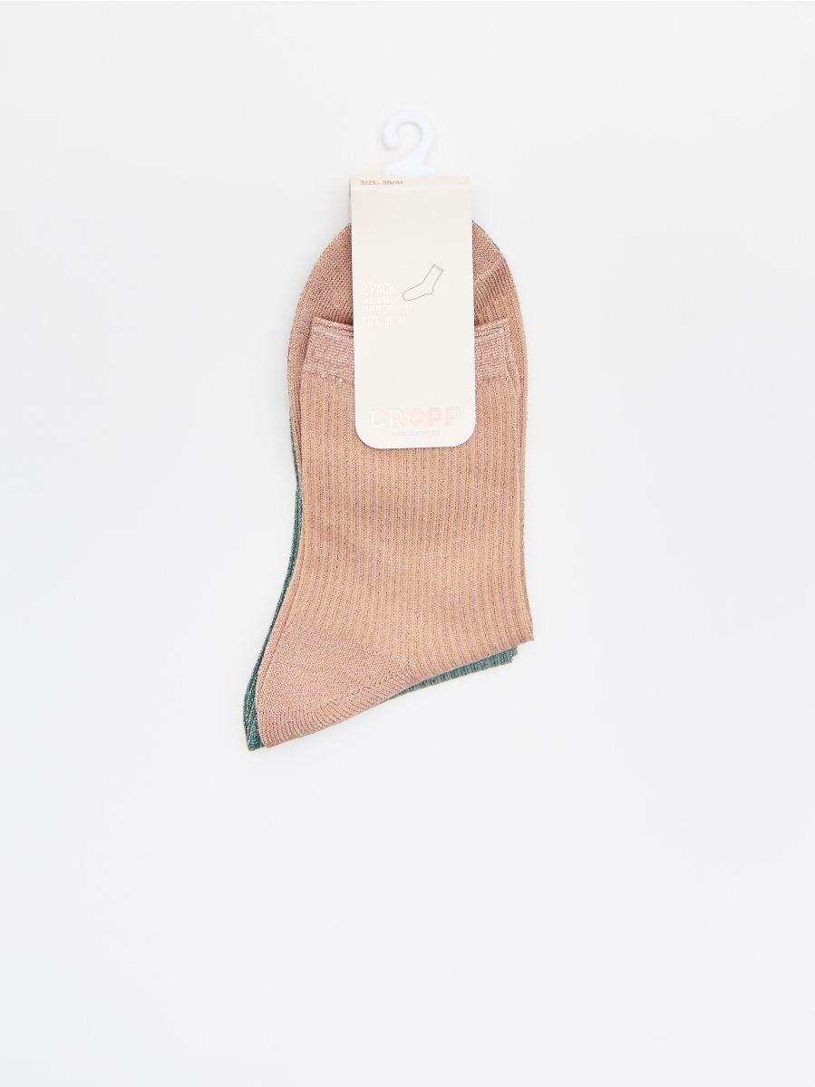 Носки, 2 пары в упаковке - кремовый - WX963-02M - Cropp - 2