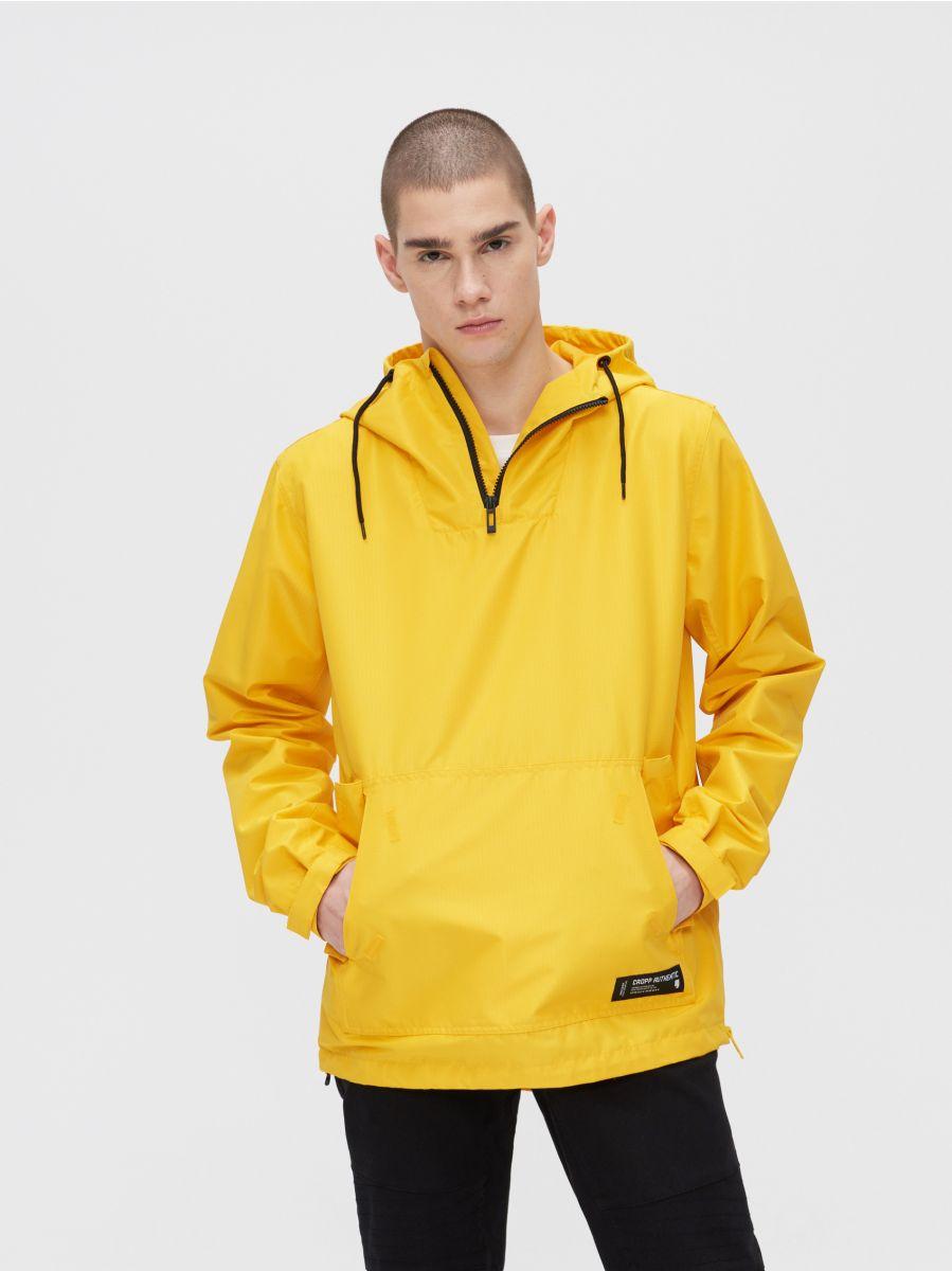 Легкая куртка-анорак с капюшоном - желтый - XJ981-11X - Cropp - 1