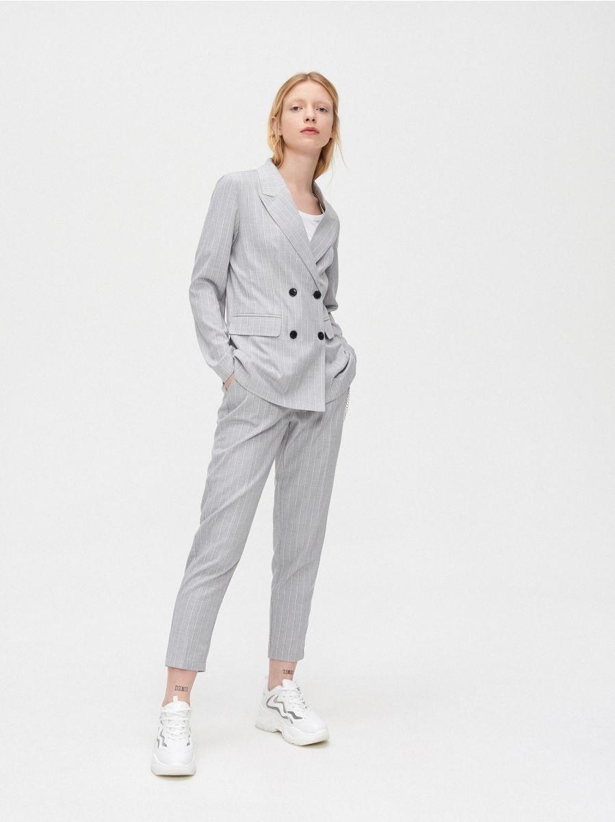 Двубортный пиджак - светло-серый - XL583-09X - Cropp - 1