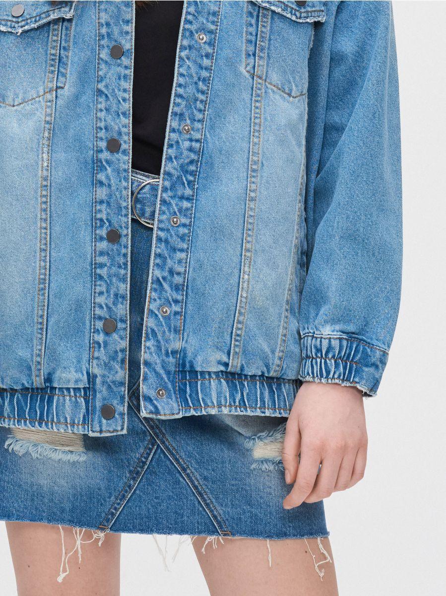 Джинсовая куртка - голубой - XL587-55J - Cropp - 4