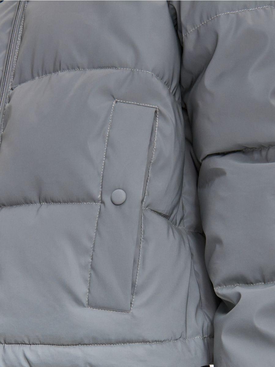 Объемная куртка - серый - XL604-90X - Cropp - 5