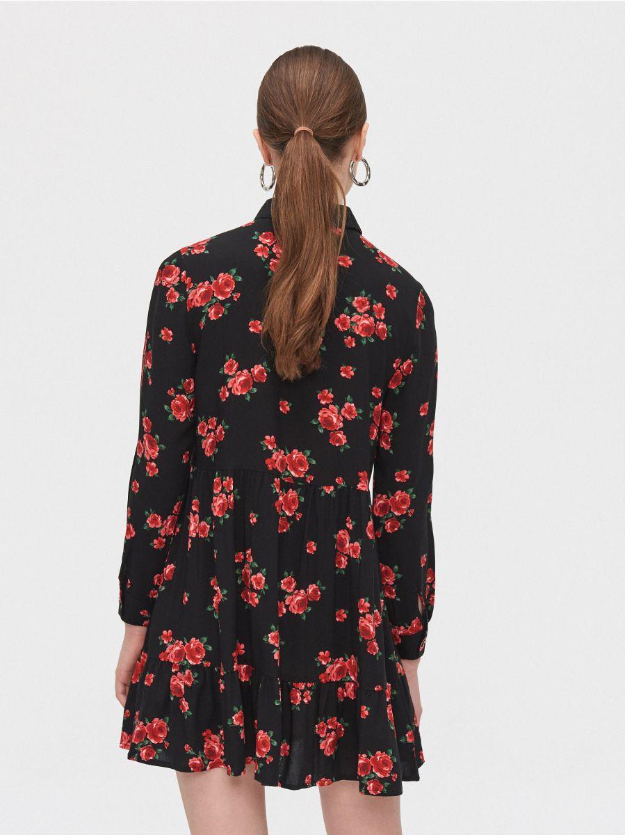 Платье в цветы - черный - ZG306-99X - Cropp - 4