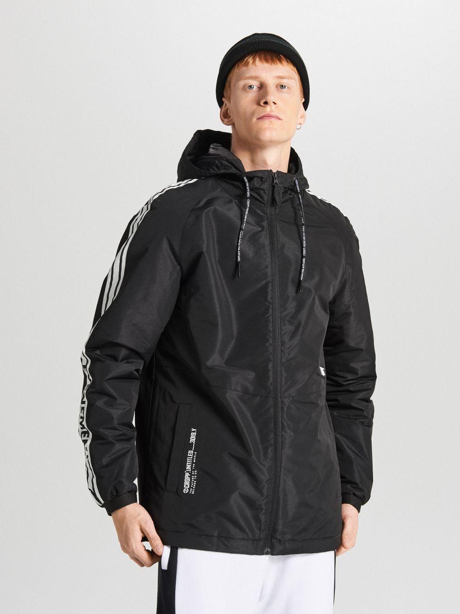 Легкая куртка с капюшоном - черный - VB079-99X - Cropp - 3