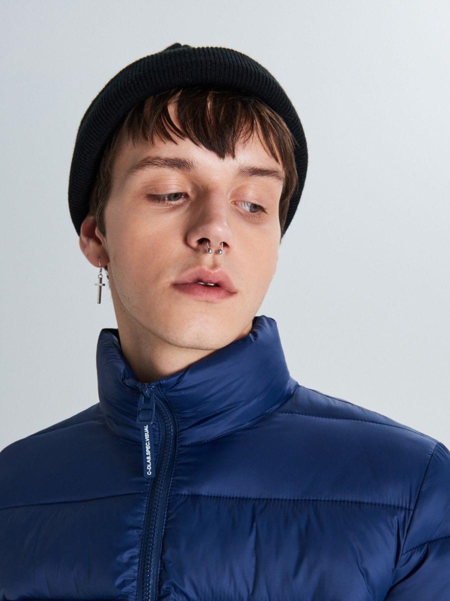 Стеганая куртка - темно-синий - VB156-59X - Cropp - 3