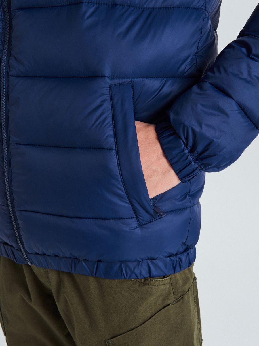 Стеганая куртка - темно-синий - VB156-59X - Cropp - 4