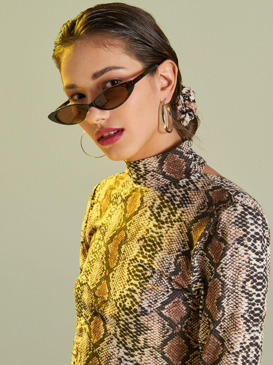 Солнцезащитные очки - коричневый - VU619-88X - Cropp - 1