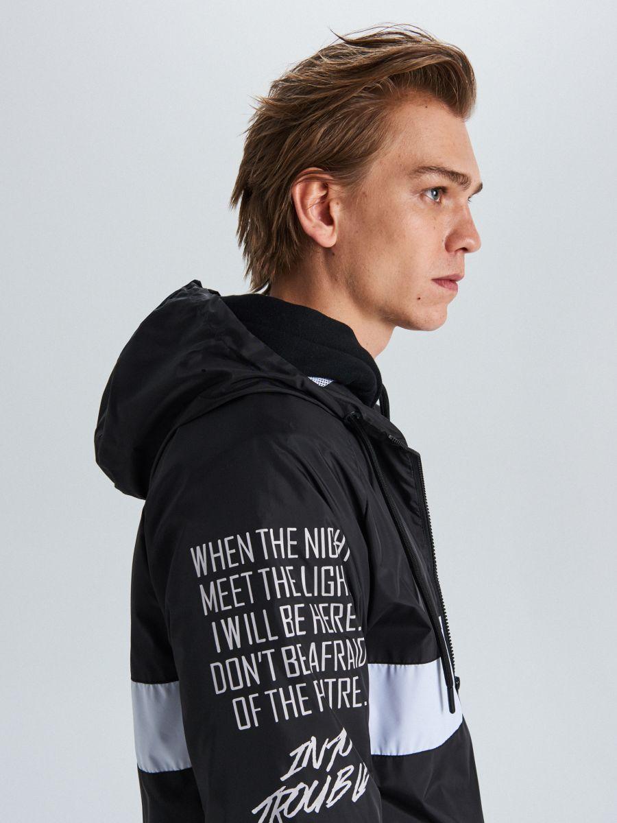 Куртка с капюшоном с надписями - черный - VW249-99X - Cropp - 2