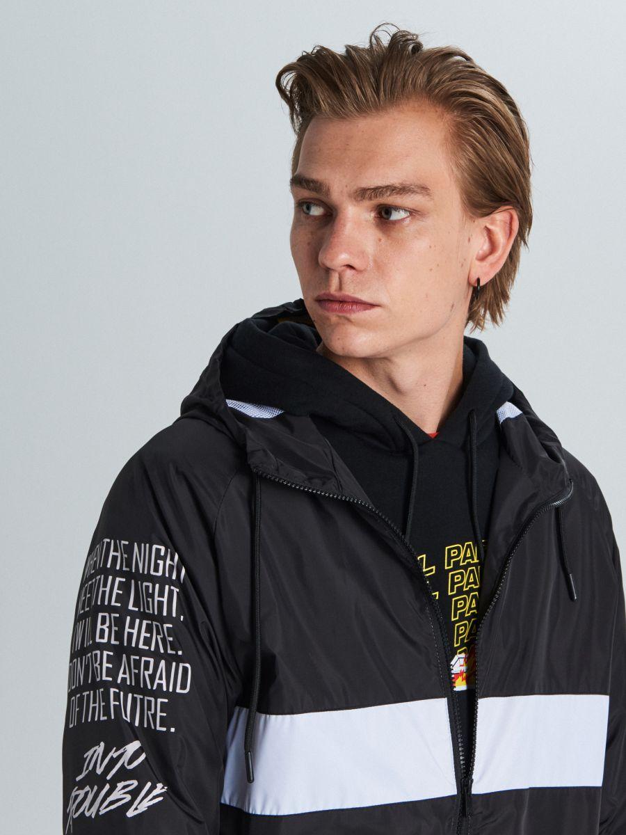 Куртка с капюшоном с надписями - черный - VW249-99X - Cropp - 4