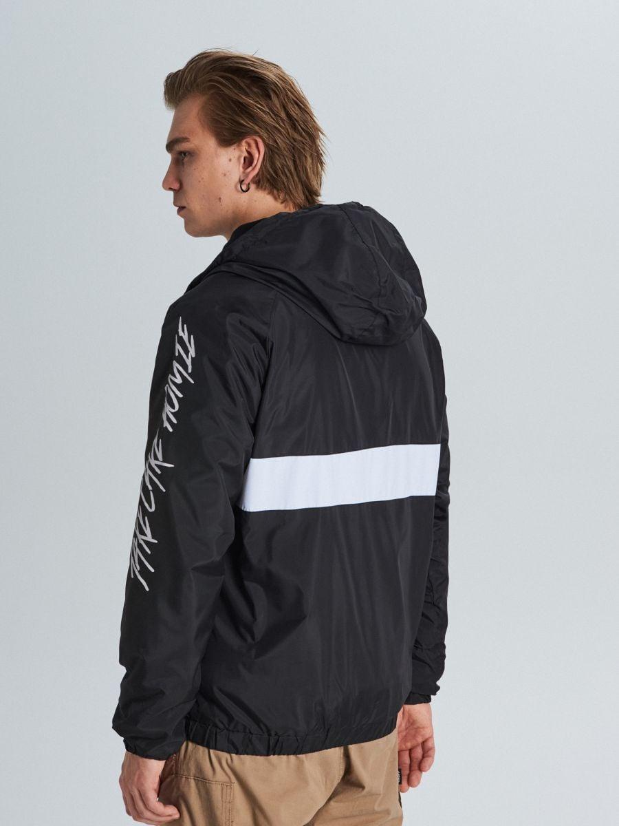 Куртка с капюшоном с надписями - черный - VW249-99X - Cropp - 5