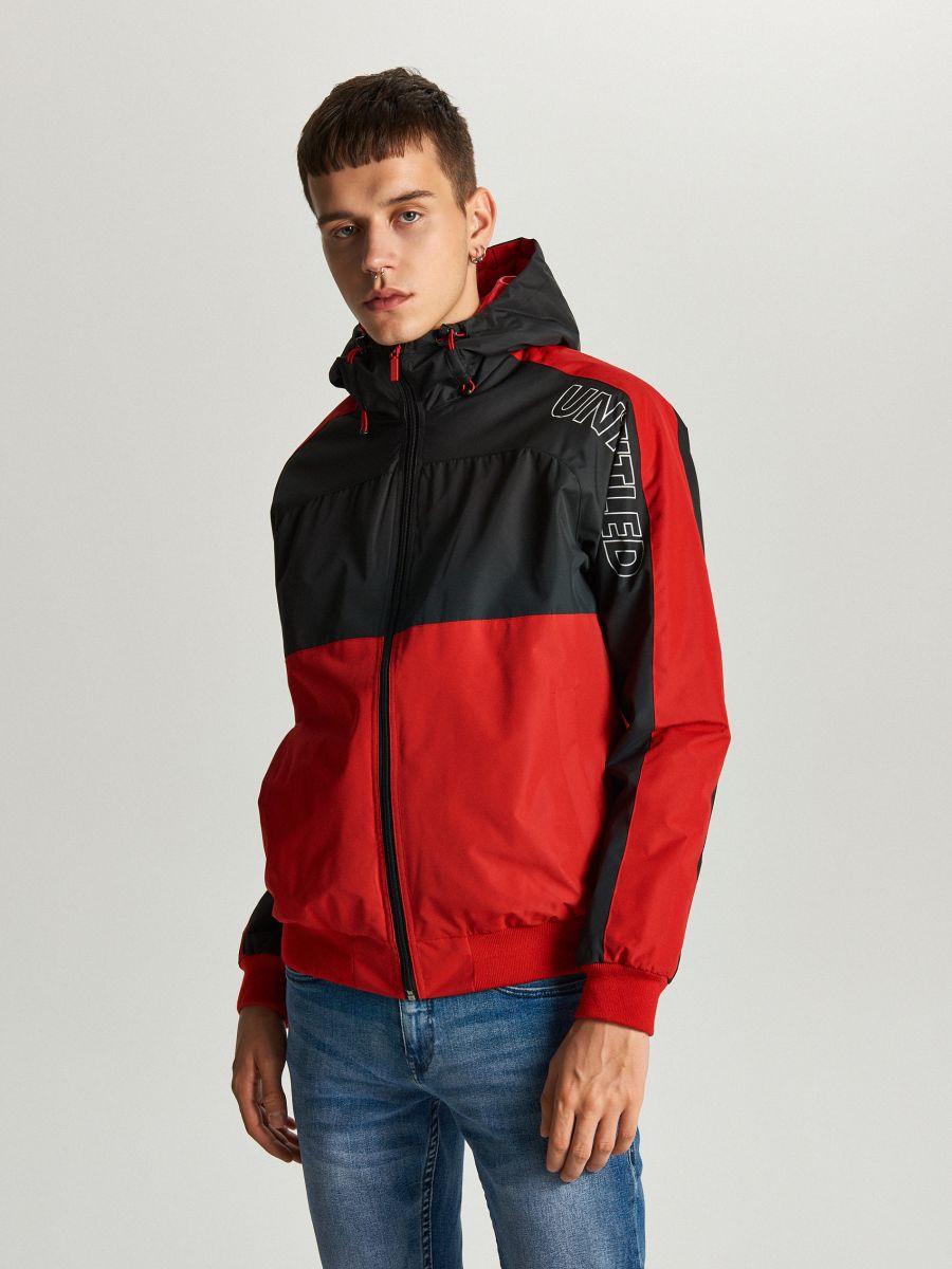 Легкая куртка с капюшоном - красный - VW259-33X - Cropp - 3