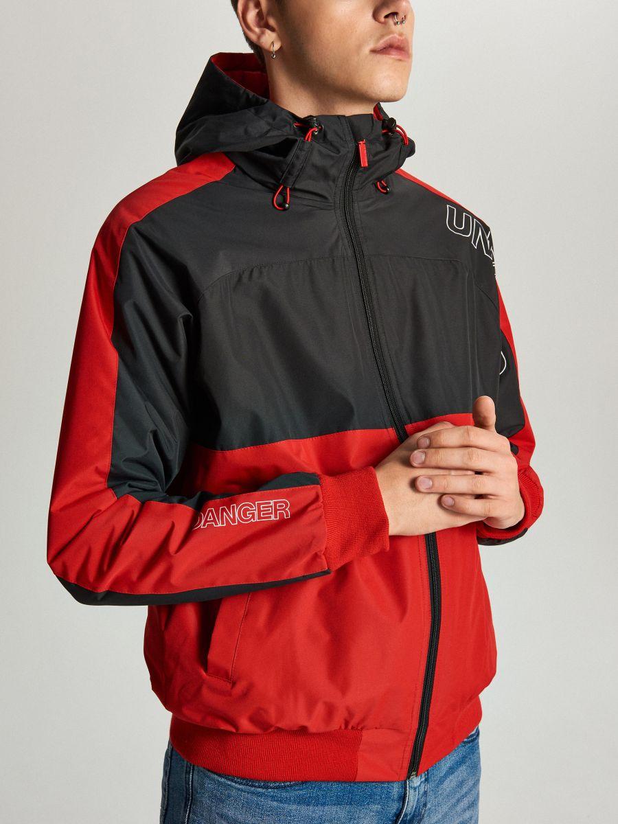 Легкая куртка с капюшоном - красный - VW259-33X - Cropp - 4