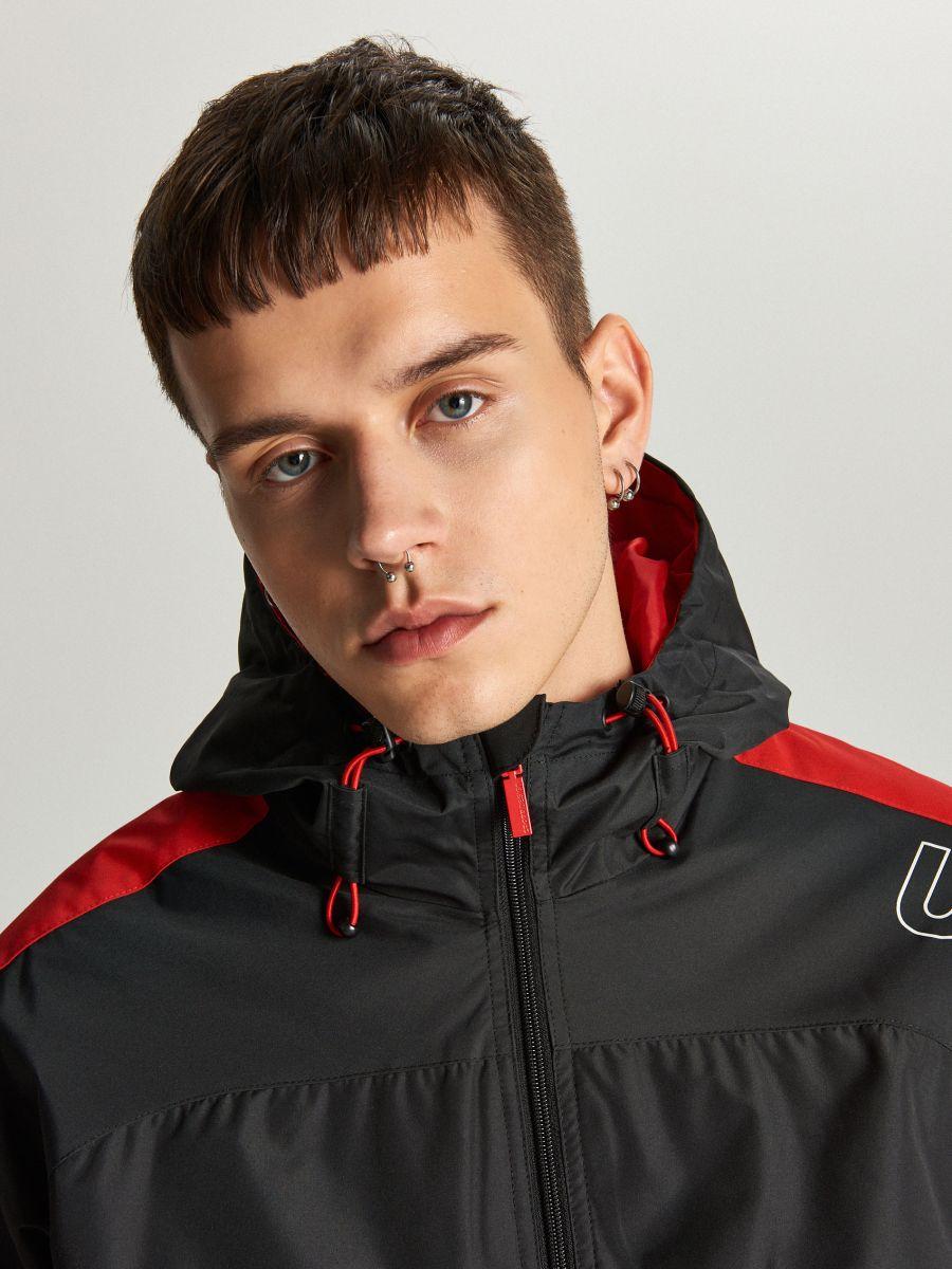 Легкая куртка с капюшоном - красный - VW259-33X - Cropp - 5