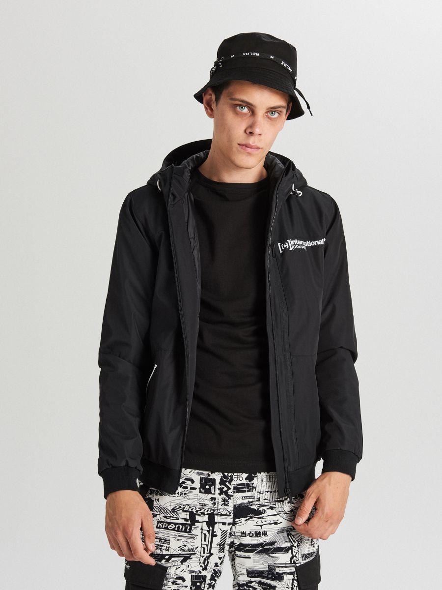 Спортивная куртка с капюшоном - черный - VW264-99X - Cropp - 1