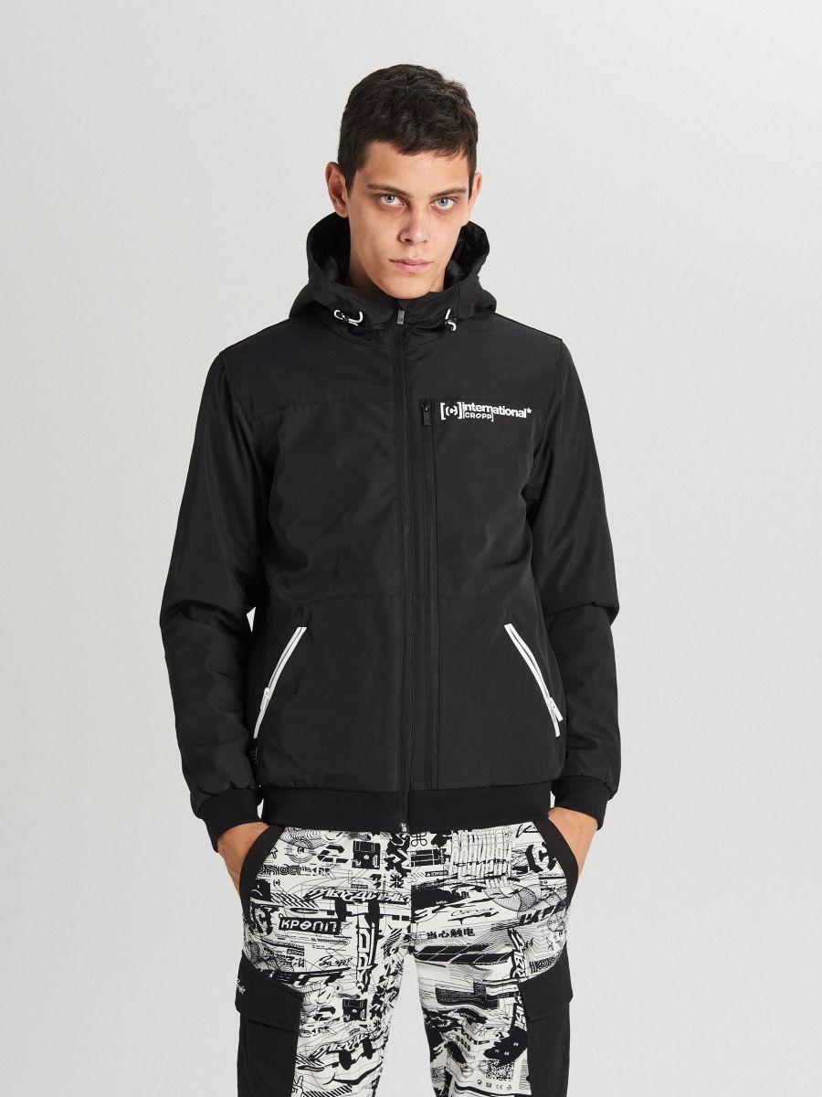 Спортивная куртка с капюшоном - черный - VW264-99X - Cropp - 2