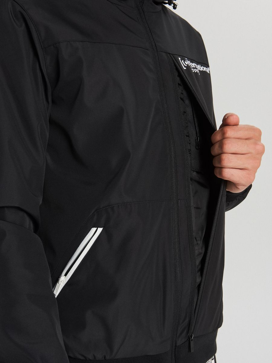 Спортивная куртка с капюшоном - черный - VW264-99X - Cropp - 5