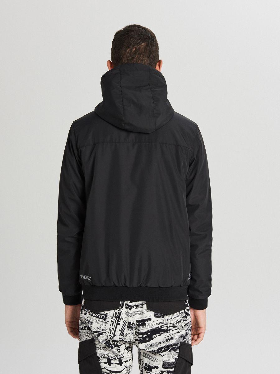 Спортивная куртка с капюшоном - черный - VW264-99X - Cropp - 6
