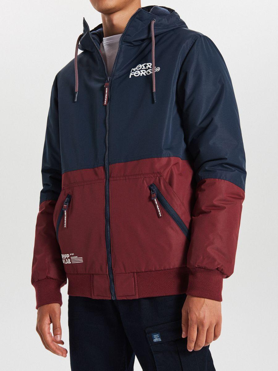 Куртка с капюшоном - темно-синий - VW266-59X - Cropp - 4