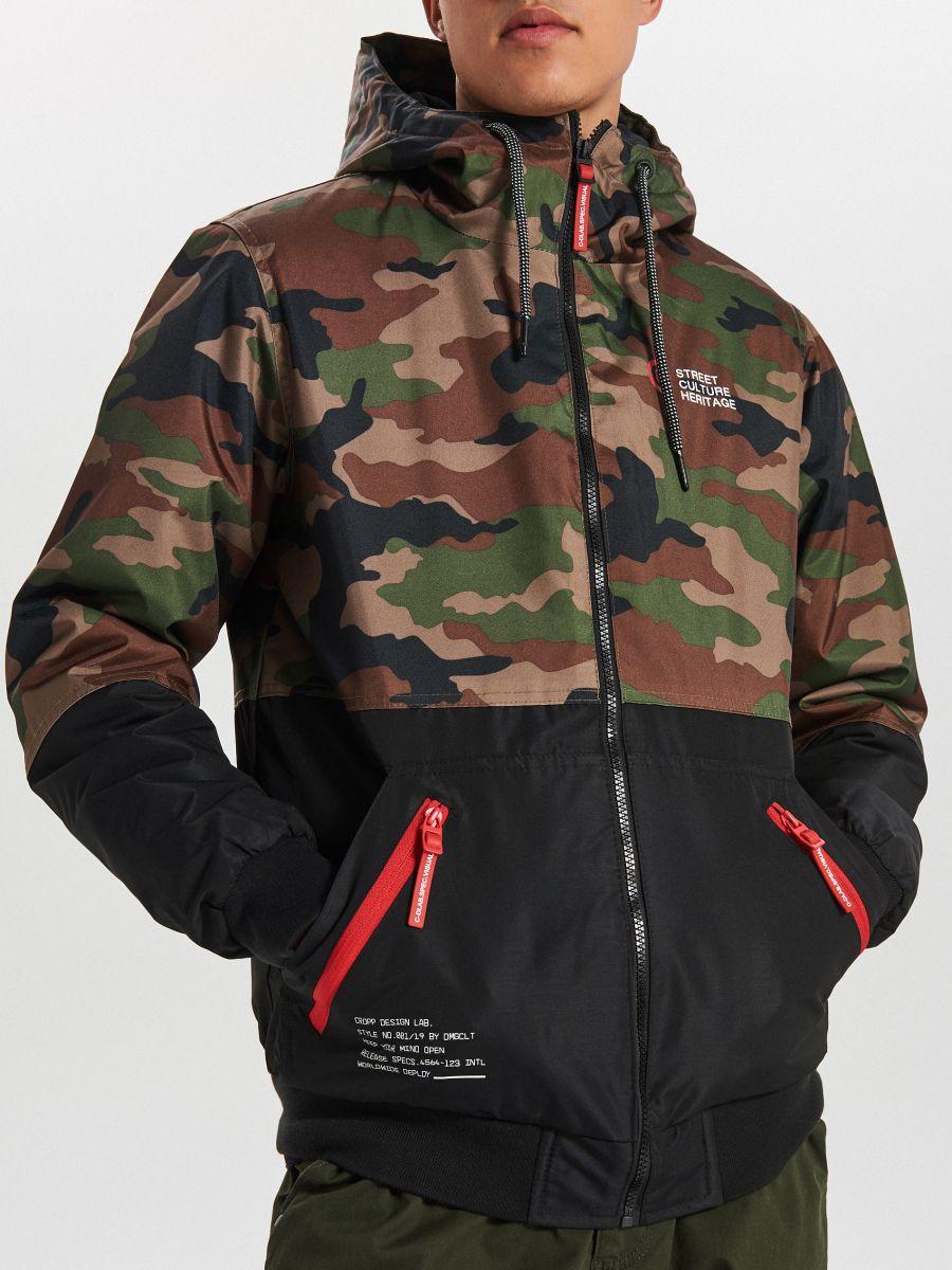 Куртка с капюшоном - хаки - VW266-87X - Cropp - 4