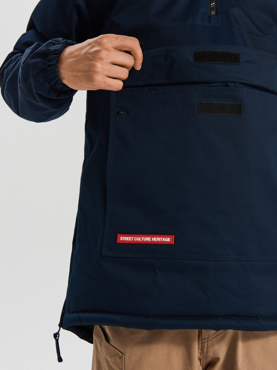 Зимний анорак с карманом - темно-синий - VW269-59X - Cropp - 5
