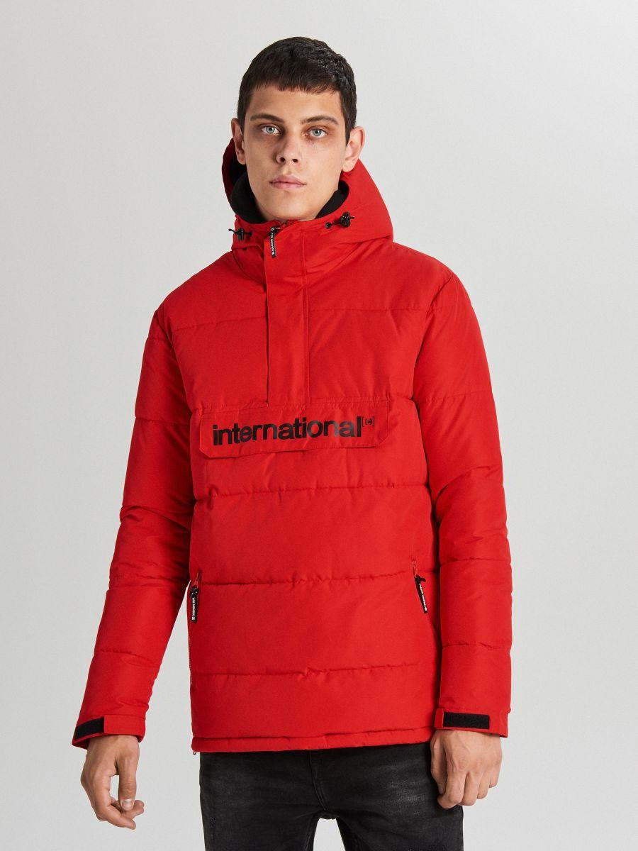 Теплый анорак с капюшоном - красный - WA092-33X - Cropp - 1