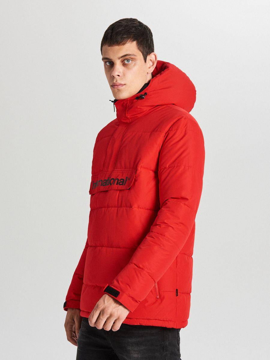 Теплый анорак с капюшоном - красный - WA092-33X - Cropp - 2