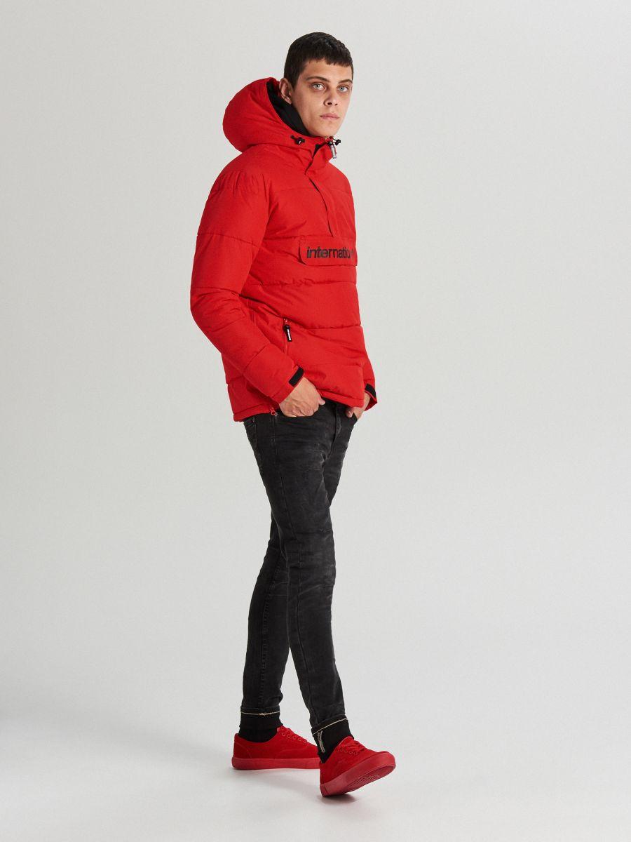 Теплый анорак с капюшоном - красный - WA092-33X - Cropp - 3