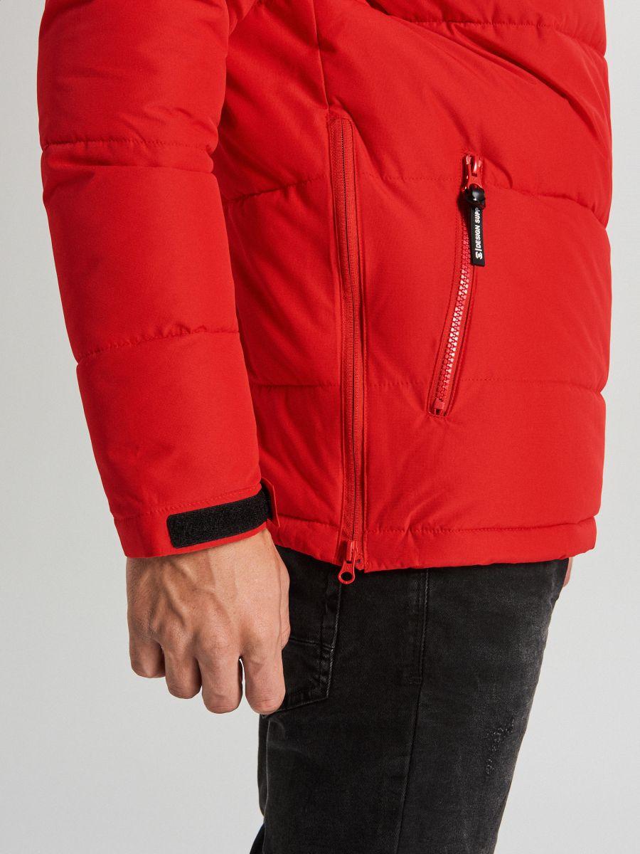 Теплый анорак с капюшоном - красный - WA092-33X - Cropp - 5