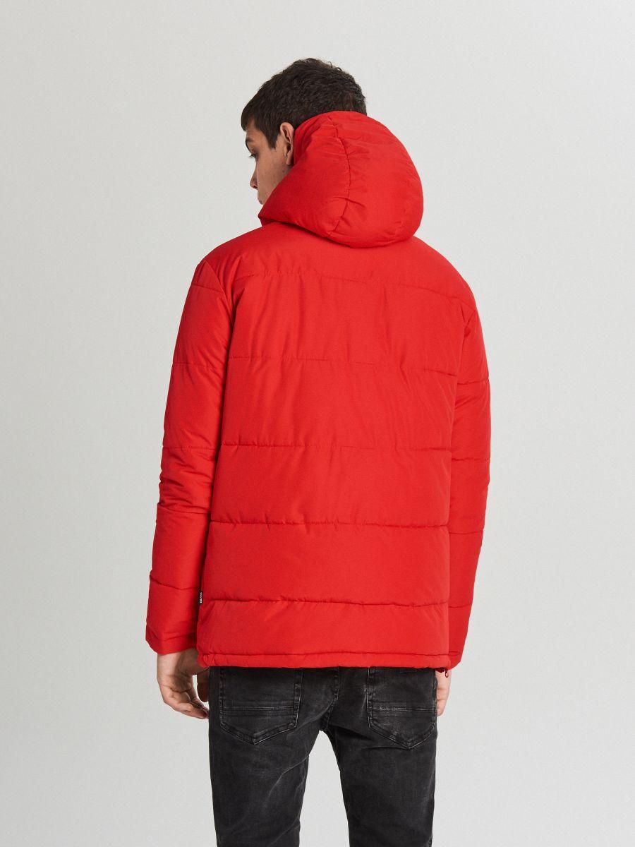 Теплый анорак с капюшоном - красный - WA092-33X - Cropp - 6