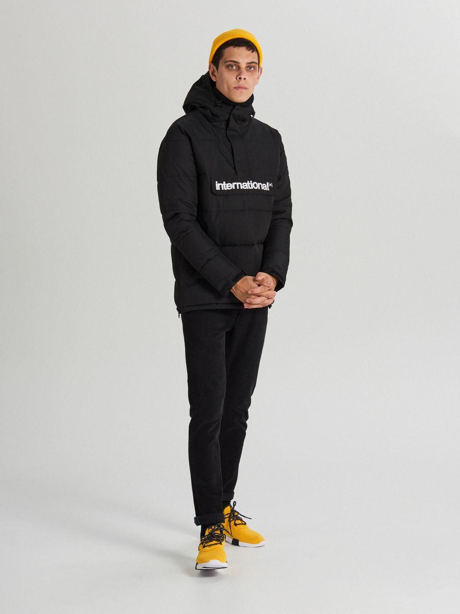 Теплый анорак с капюшоном - черный - WA092-99X - Cropp - 2