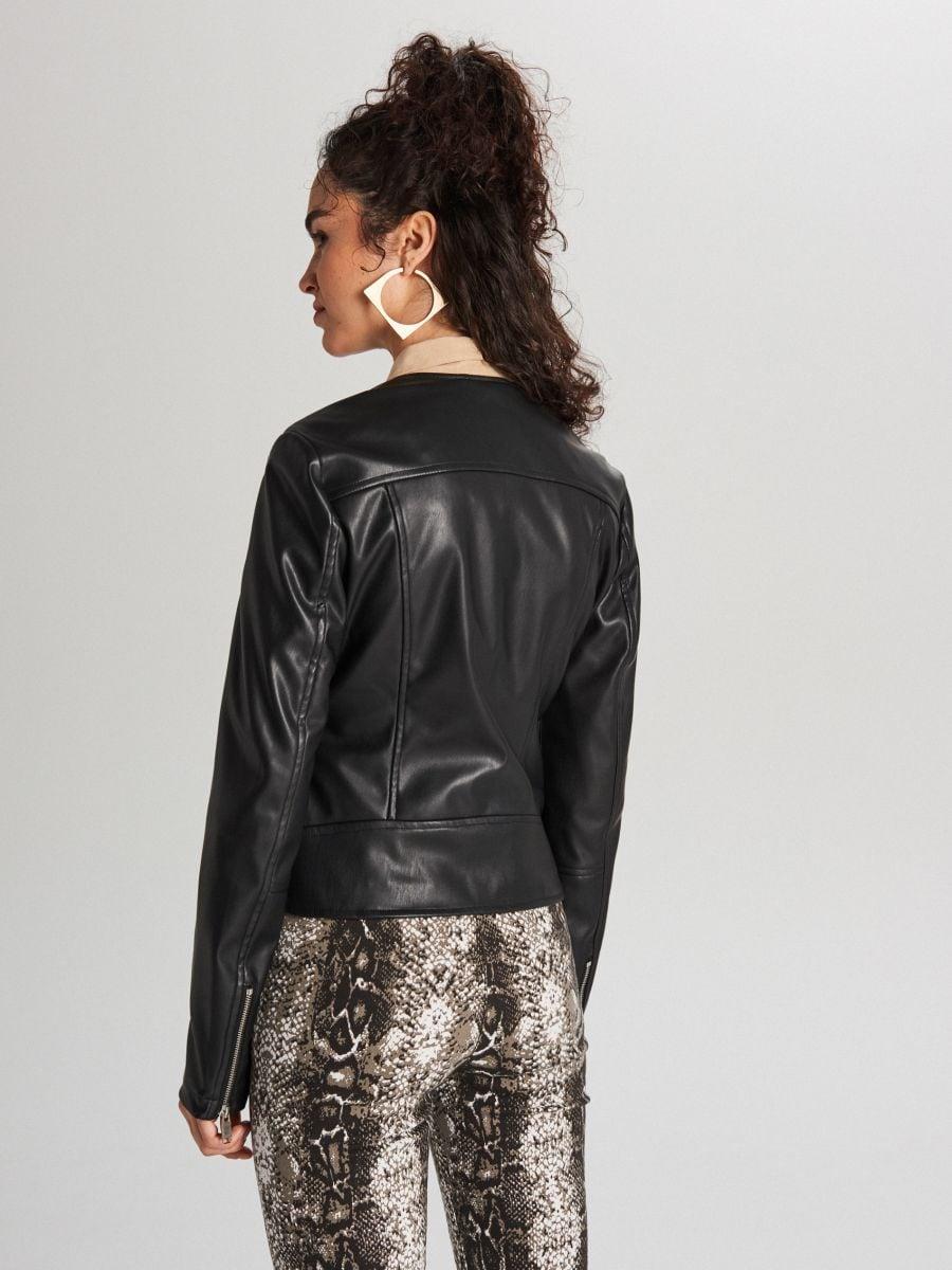 Куртка байкерская - черный - WB854-99X - Cropp - 4