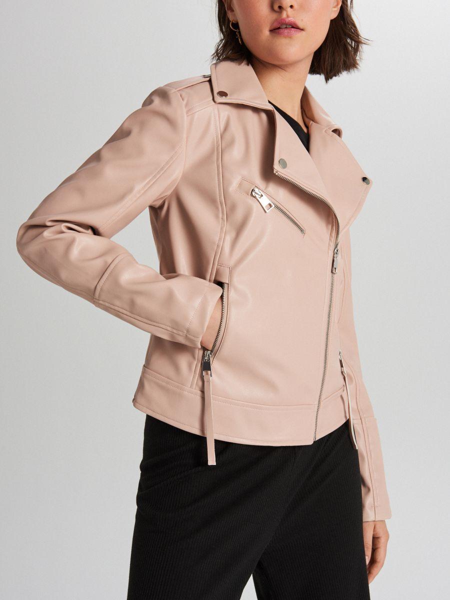 Байкерская куртка - бежевый - WB855-08X - Cropp - 1
