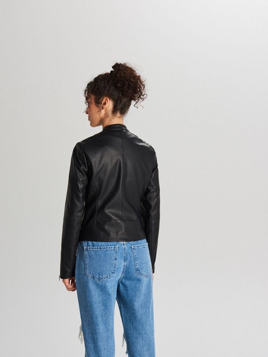 Байкерская куртка  - черный - WB859-99X - Cropp - 4