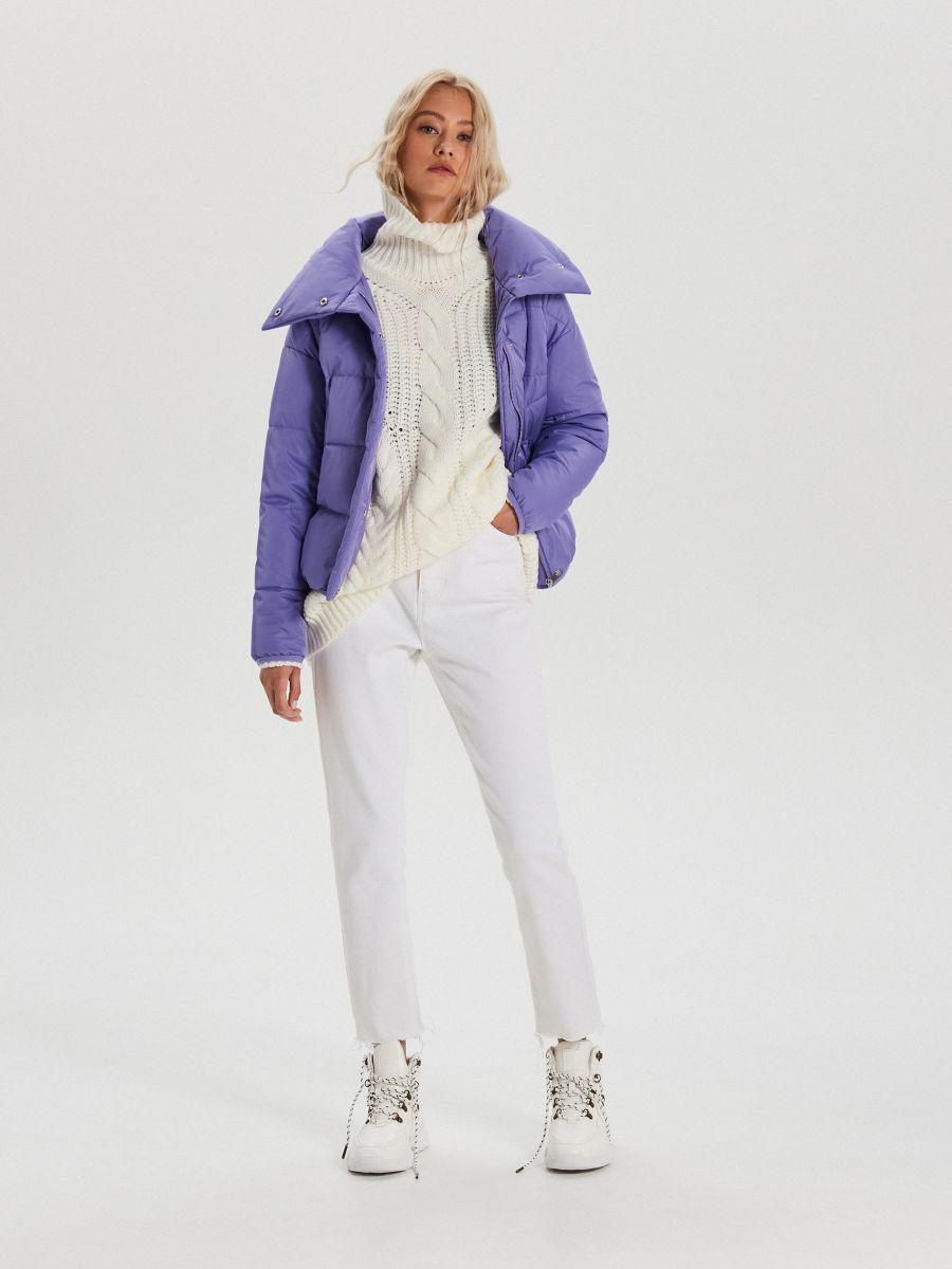 Объемная куртка - фиолетовый - WB866-44X - Cropp - 2